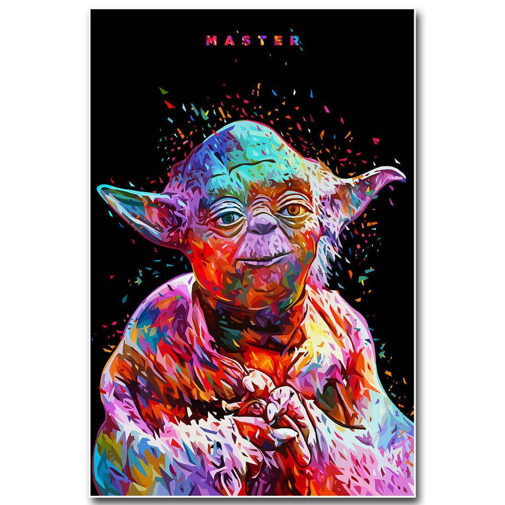 Yoda Star Wars Vintage Movie Art Silk Poster 12x18 24x36
