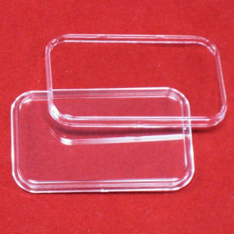 10 AIRTITE COIN HOLDER CAPSULE DIRECT FIT RECTANGLE 1OZ SILVER BAR