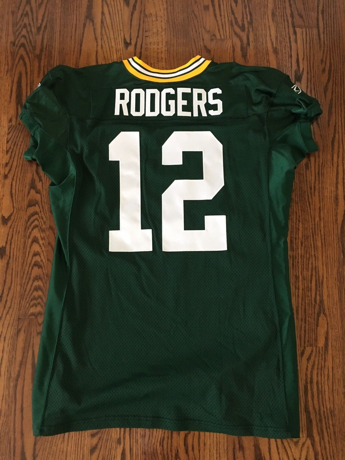 san francisco 5e34d 7e431 Game Used:Game Worn Used Issued Pro Cut Aaron Rodgers Green ...